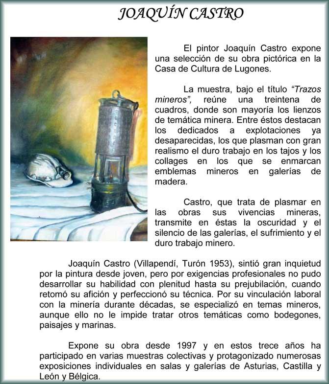 Exposición de Joaquín Castro en Lugones