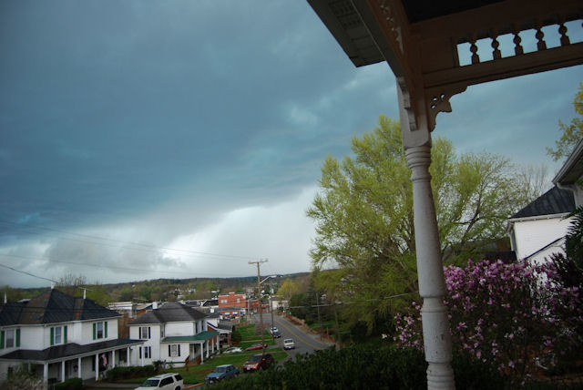 Severe weather here in Rocky Mount VA as reported from The Claiborne House B&B