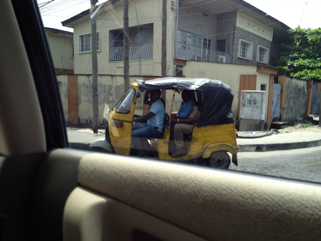 Three Wheel Taxi in Lagos, Nigeria