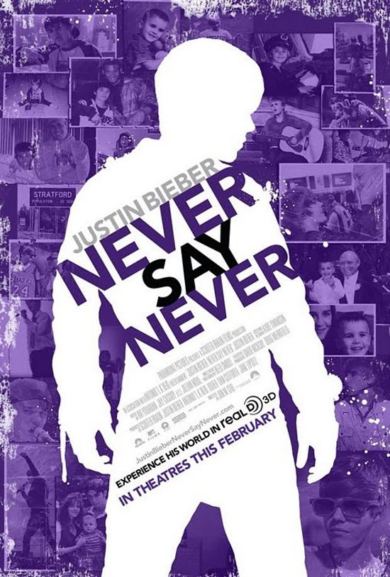justin bieber never say never movie poster. Justin Bieber: Never Say