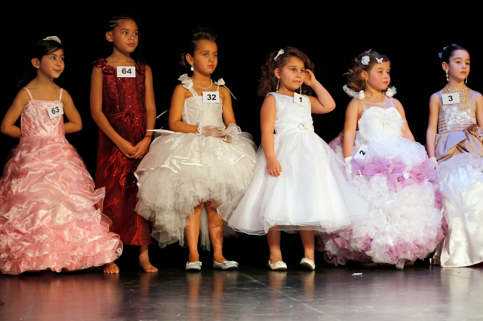 Contestants of the beauty contest mini Miss France 2014, for children