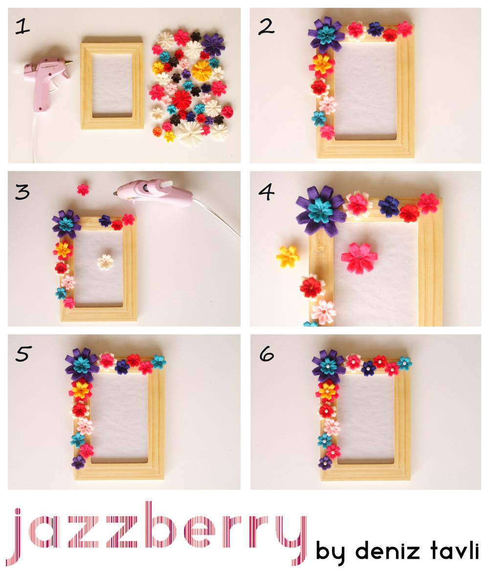 jazzberry by deniz tavli diy frame with felt flowers