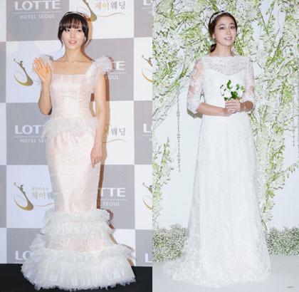 Korean Celebrities look Pretty in Wedding Dresses   Wedding Celebration