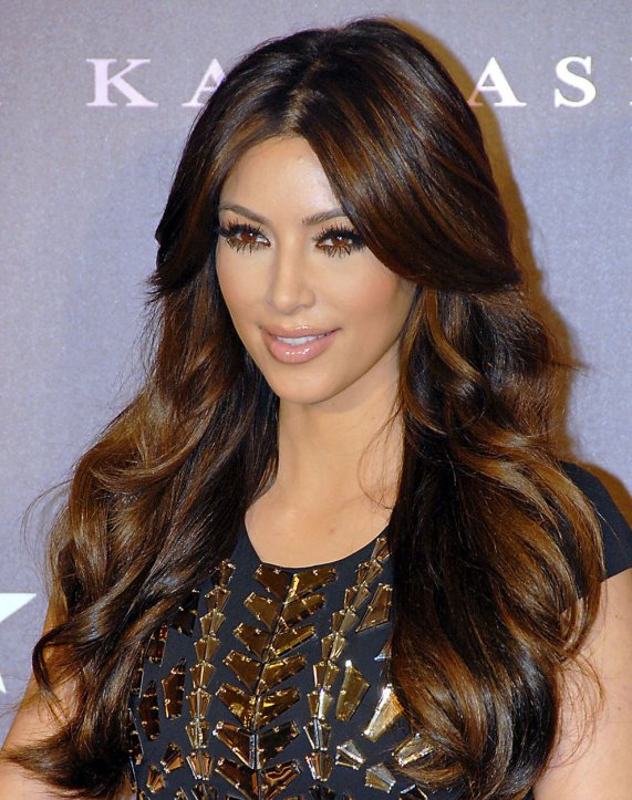 Kim Kardashian Light Brown Hair Color