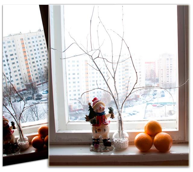 зима+снег+минск+окно
