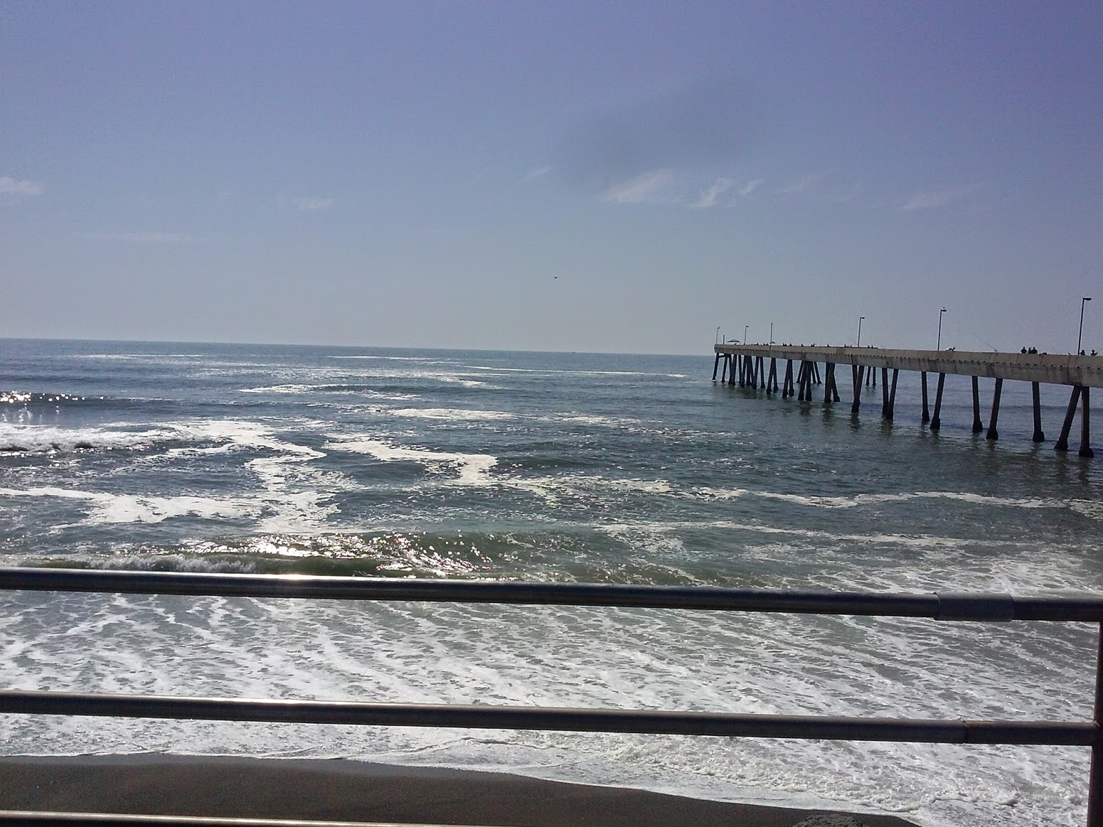 Hunting and fishing california pier fishing in pacifica for Surf city pier fishing report facebook