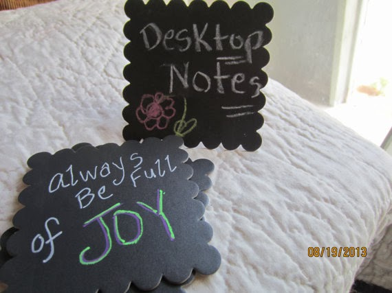 diy chalkboard mini message boards by Pear Creek Cottage