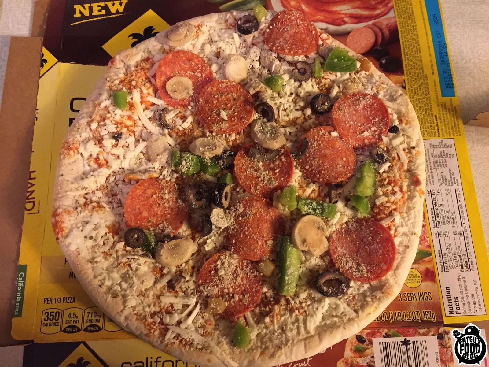 California Pizza Kitchen Pepperoni Pizza Fatguyfoodblog California Pizza Kitchen New Flavors The Works