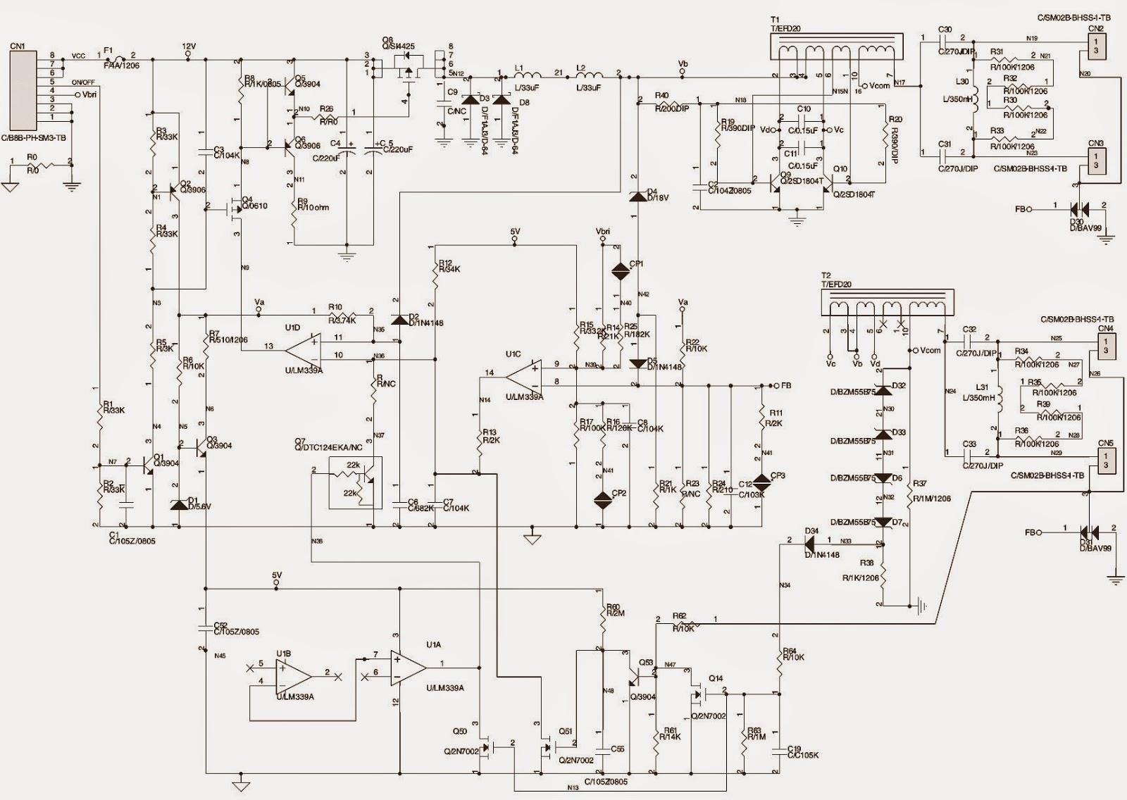 Terrific Lcd Tv Back Light Inverter Board Schematics Circuit Diagrams Wiring Digital Resources Funapmognl