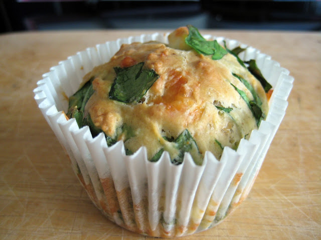 Feta, Cheddar and Spinach Muffins