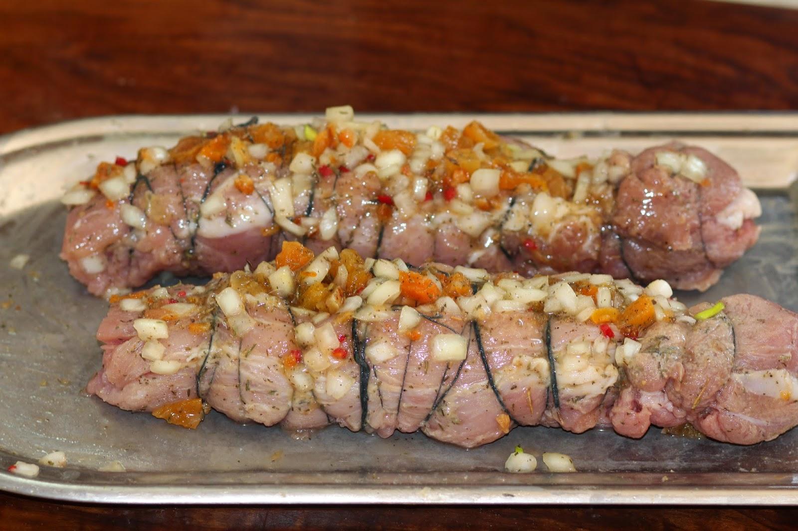 Вырезка свиная фаршированная рецепты