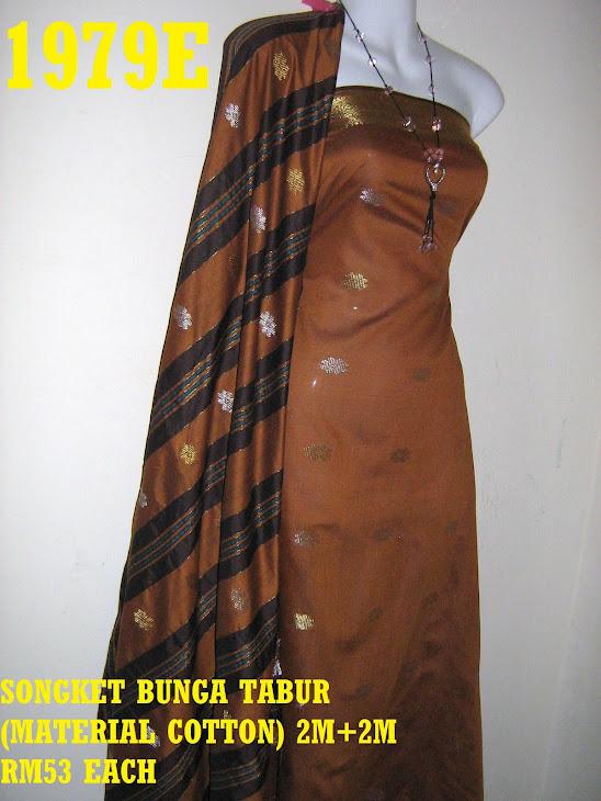 SBT 1979E: SONGKET BUNGA TABUR, 2M+2M, MATERIAL COTTON