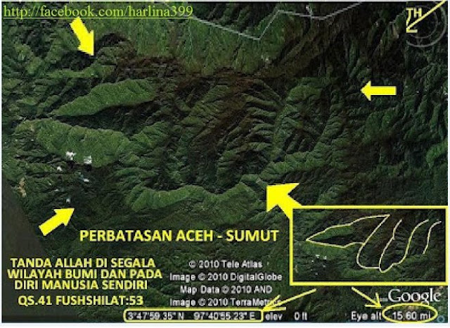 Google Maps Rakam Lafaz Allah di Aceh