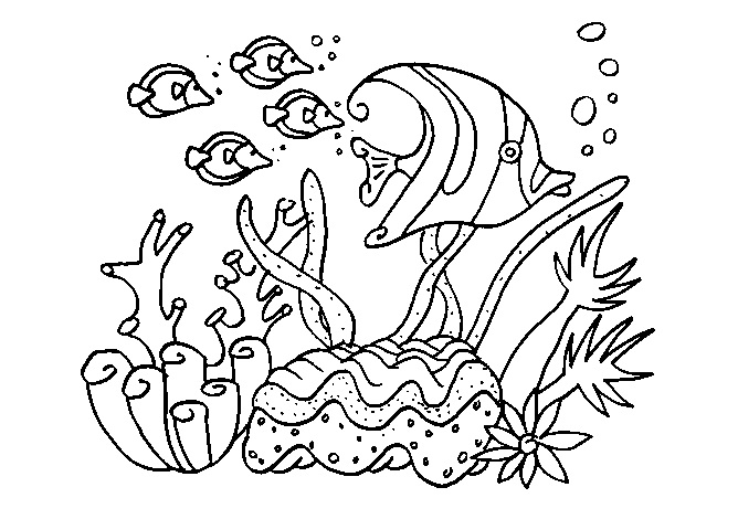 ocean life coloring pages preschool numbers - photo #17