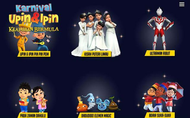 Antara program pada Karnival Upin & Ipin 2015