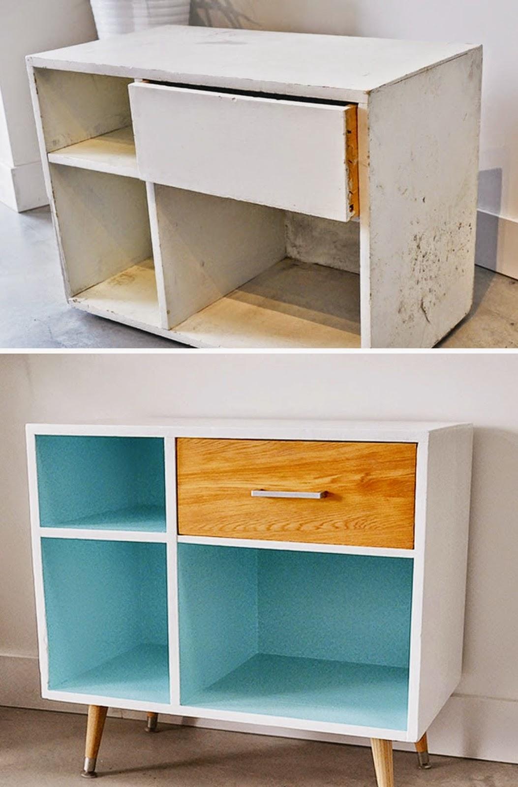Muebles De Cocina Pintados Antes Y Despues Cautivador De  # Muebles Reformados
