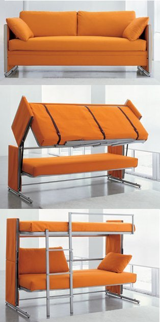 Click Clack Sofa Bed : Sofa chair bed : Modern Leather ...