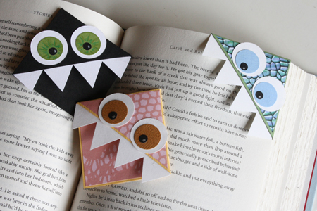 Cute monster bookmark