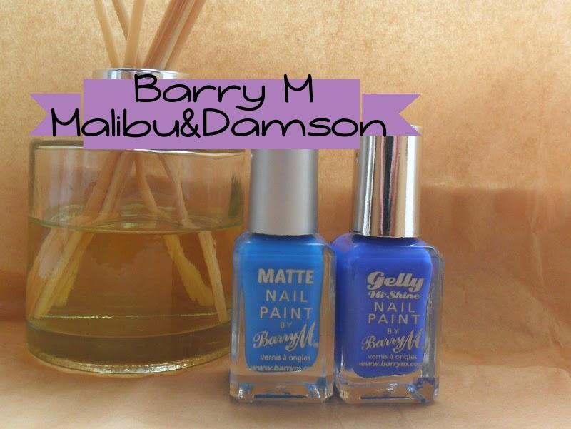 Katie, Muddling Along: Barry M Malibu & Damson Swatches