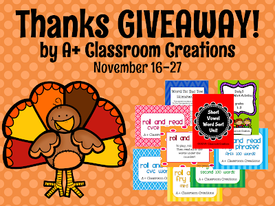 http://aplusclassroomcreations.blogspot.com/search/label/Giveaway!