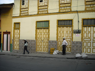 Typically dressed Colombian men