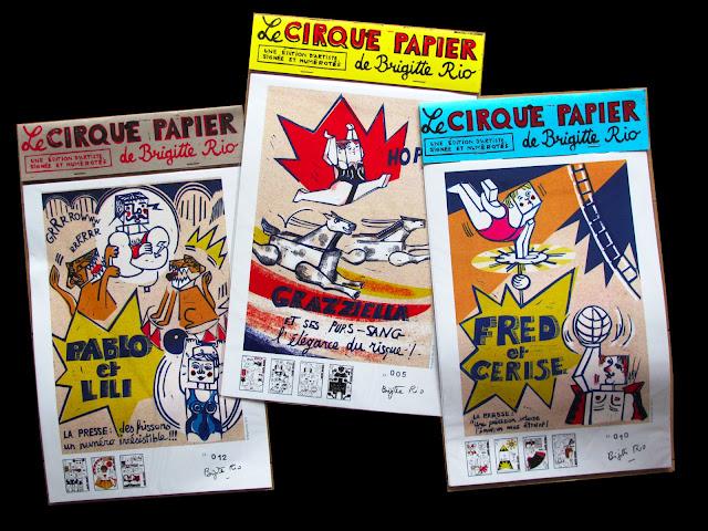 Cirque Papier en 3 pochettes