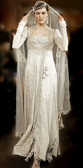 Fashion Style White Indian Wedding Dresses - White Indian Wedding Dress