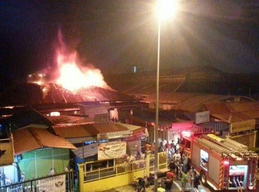 Uptown Shah Alam Seksyen 24 Terbakar