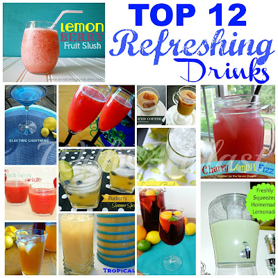 TOP 12 Refreshing Drinks   --- something for everyone !  #drinks  #beverages #drinkrecipes
