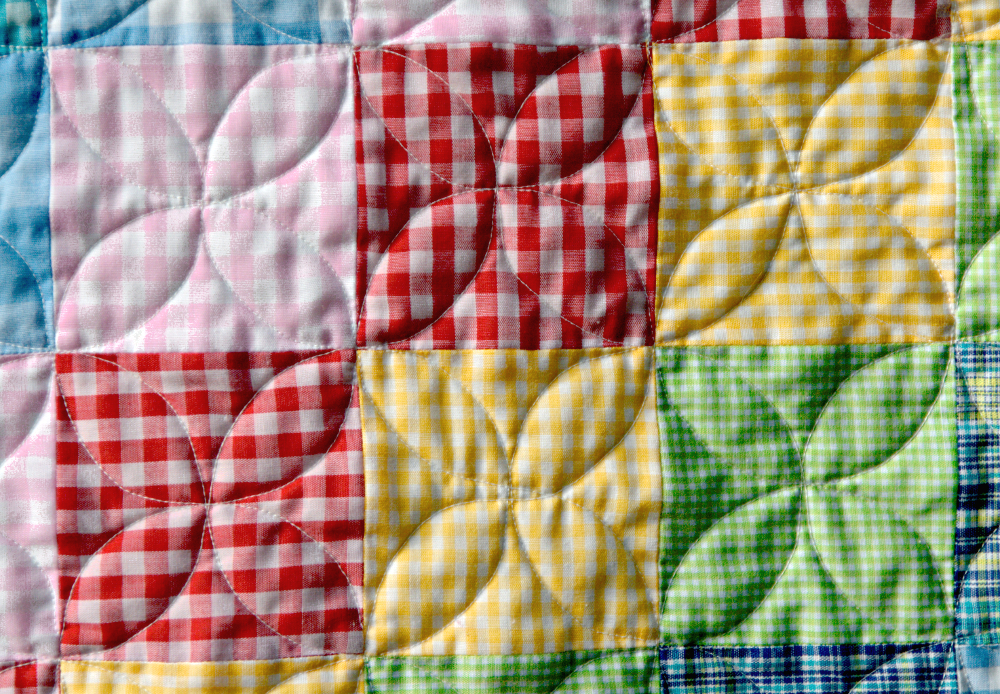 Pippin Sequim: Orange Peel quilting with a walking foot