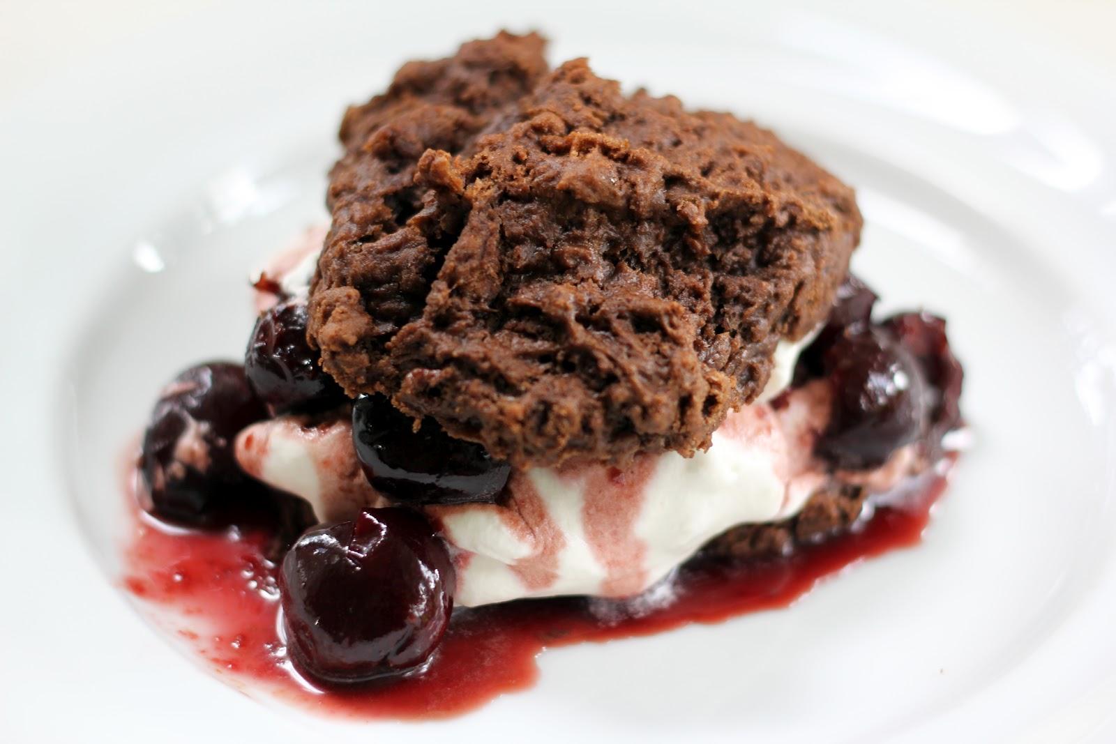 Blue Kale Road: Chocolate Cherry Bourbon Shortcake