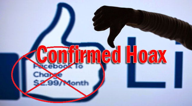 Facebook Monthly Fee of $2.99 Starting November 1, 2014 Confirmed Hoax News Revealed