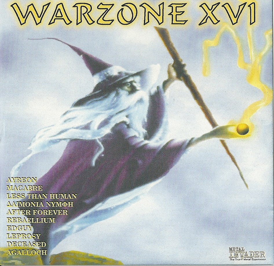 Warzone XVI (16) 1. Ayreon - Into The Black Hole [Feat. Bruce Dickinson (Iron Maiden)] 2. Macabre - Dog Guts 3. Less Than Human - Broken By You