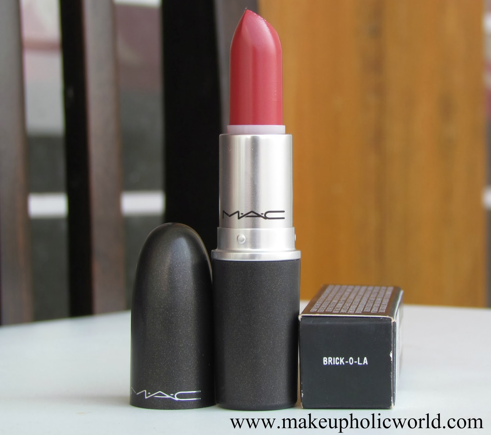 mac brickola lipstick review photos swatches