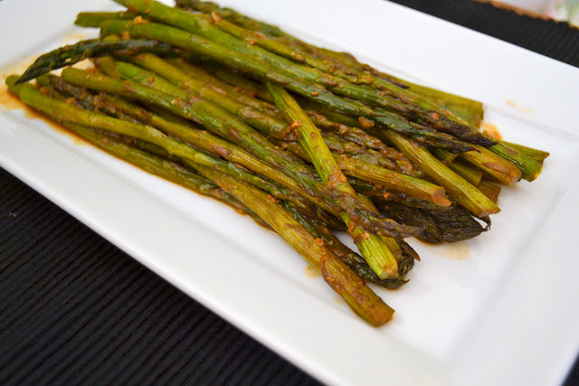 miso roasted asparagus recipe
