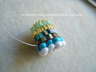 how to make beaded bead cap - ClearlyHelena