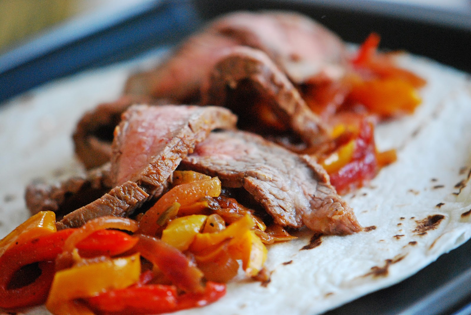 Marinated Flank Steak Fajitas | Mehan's Kitchen