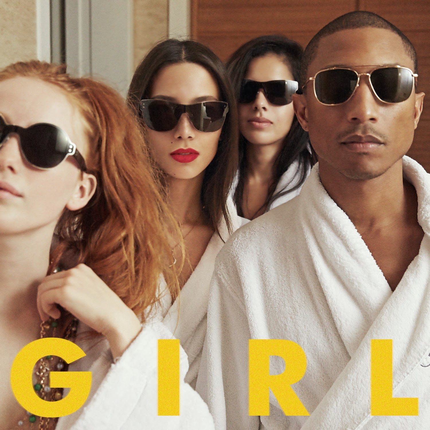 Pharrell's Thom Browne Aviators - New Album 'GIRL'