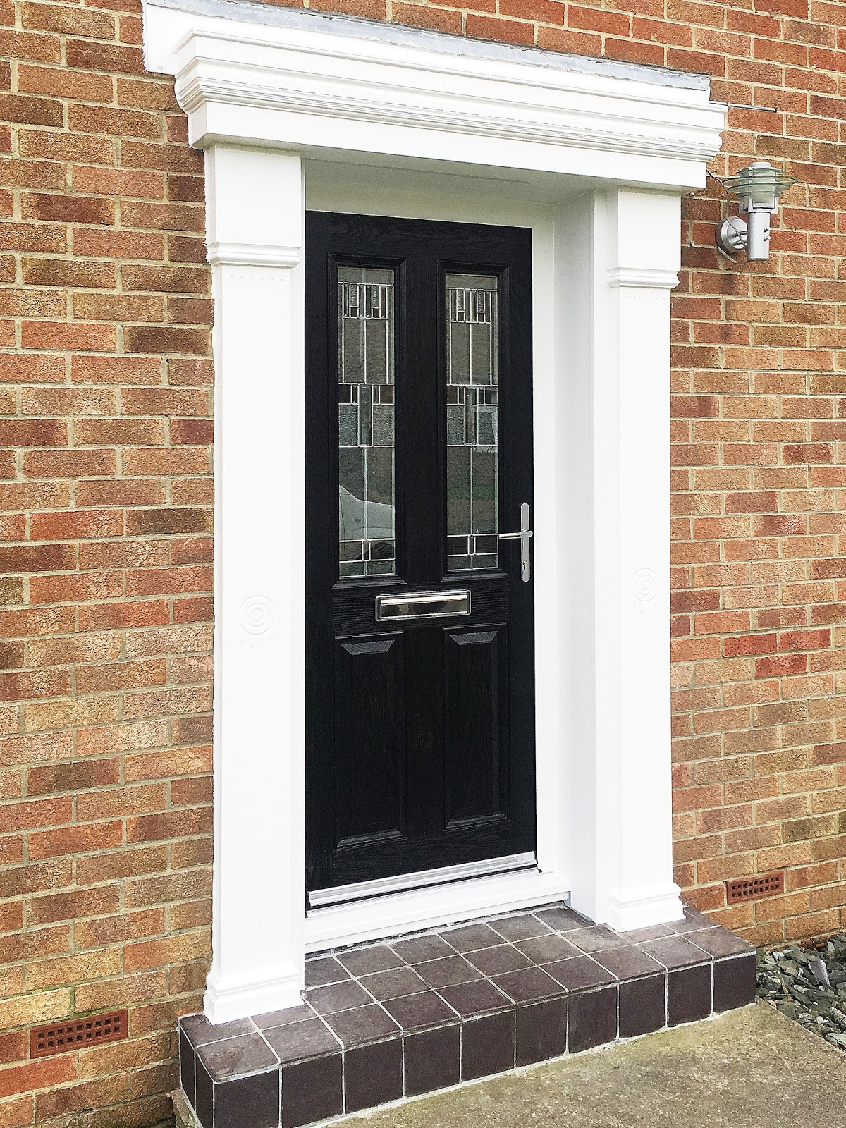 A Classical Look with a Modern twist; Black Composite Door with ...