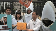 Protests against use of shark fin