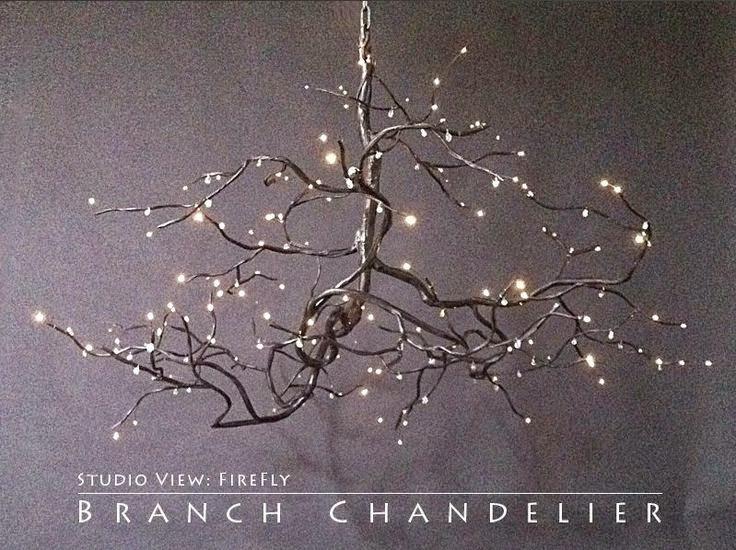 Twig Chandelier Diy