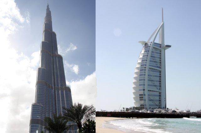 Burj Khalifa, Burj Dubai y Burj Al Arab en Dubai