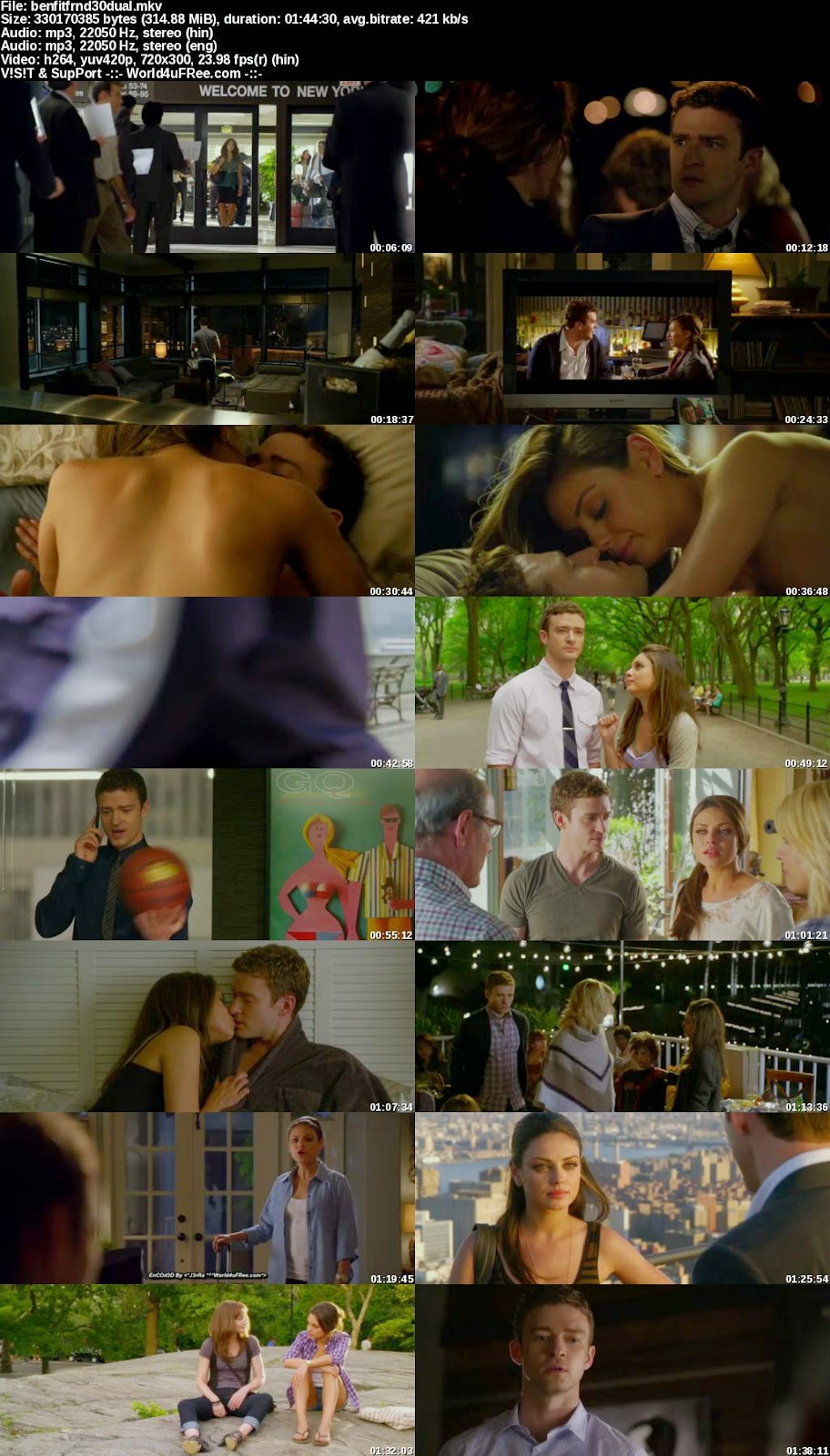 Friends With Benefits 2011 Download In Hindi 300MB at moviesmella.com