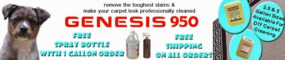 Genesis 950 - Remove Stains Pet Stains & Make Your Carpet Look Professionally Cleaned