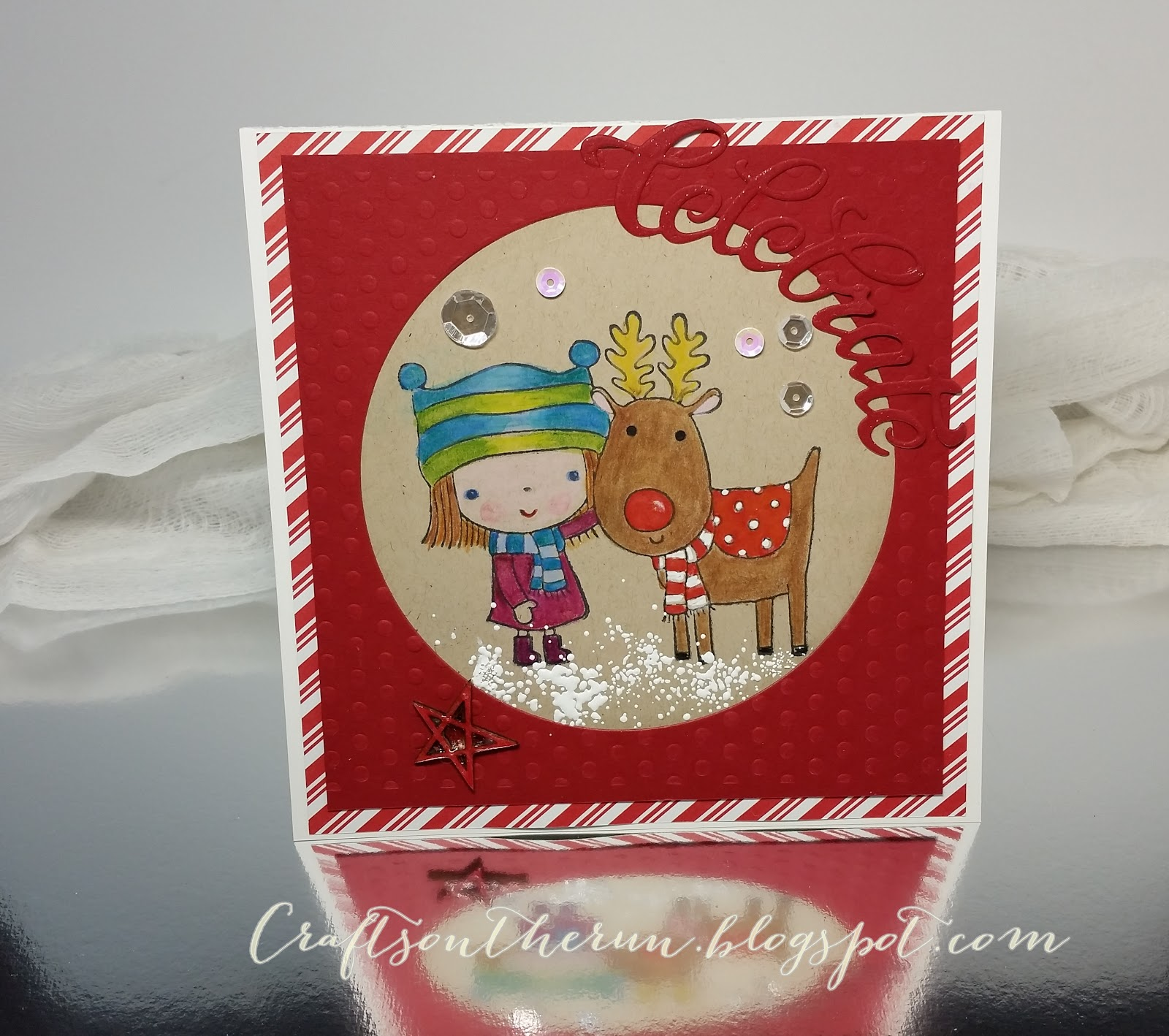 penny black mimi's winter friend, stampendous, Christmas card