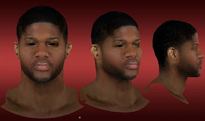 NBA 2K13 Paul George Cyberface Mod