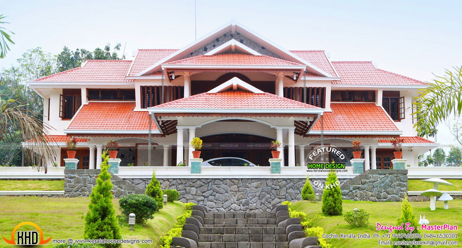 work finished luxury home kerala home design and floor plans