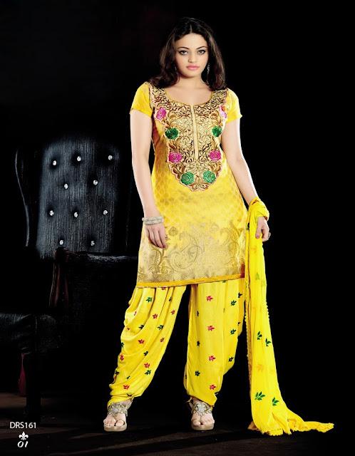 Sneha Ullal  Designer Fancy Patiala Suit