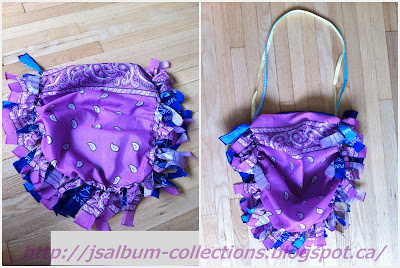 How to make no-sew mini tote with bandana