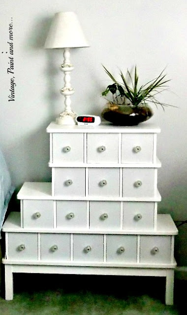 using thrifted and budget friendly multi purpose furniture to organize a craft room